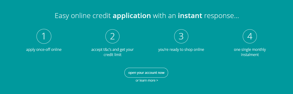 mobicred has a simple 4-step application process.